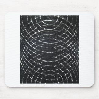 Concentric Black Ripples (black minimalism) Mouse Pad