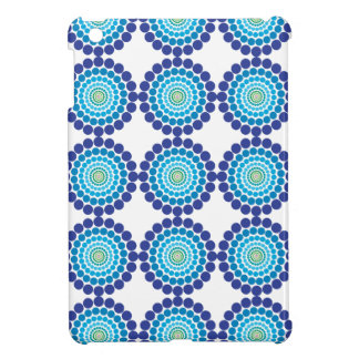 Concentric Blue and Green Dots Case For The iPad Mini