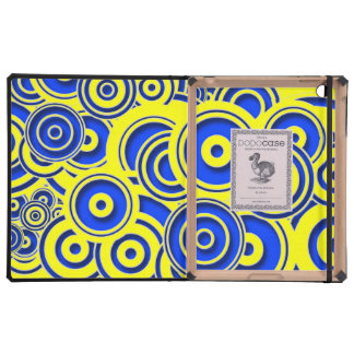 Concentric Blue Circles iPad Cover
