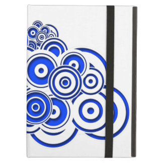 Concentric Blue Circles iPad Air Cover