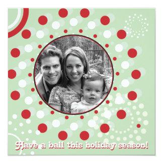Concentric Circle Holiday Greetings Card