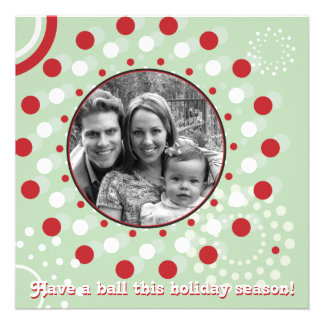 Concentric Circle Holiday Greetings Invite