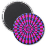 Concentric Circles 2 Inch Round Magnet