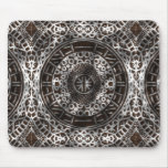 Concentric Circles African Tribal Print chocolate Mouse Pad