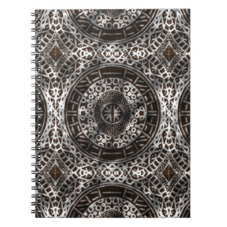 Concentric Circles African Tribal Print chocolate Spiral Notebook