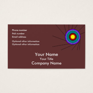 Concentric Circles - brown - bus card template