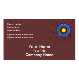 Concentric Circles - brown - bus card template Business Card Templates