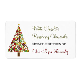 Concentric Circles Christmas Tree Baking Label