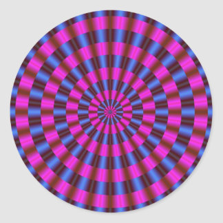 Concentric Circles Classic Round Sticker