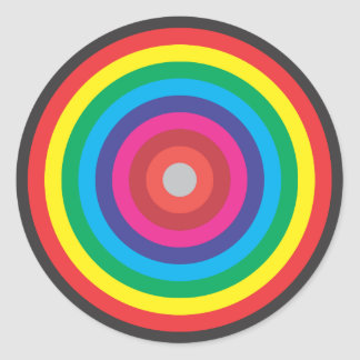 concentric circles colored target classic round sticker