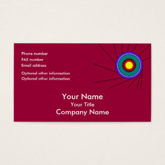 Concentric Circles - cranberry - bus card template