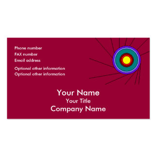 Concentric Circles - cranberry - bus card template Business Card Template