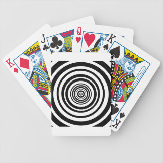 Concentric Circles Graphic Design Bicycle Playing Cards