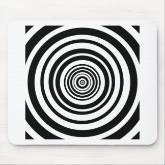 Concentric Circles Graphic Design Mouse Pad