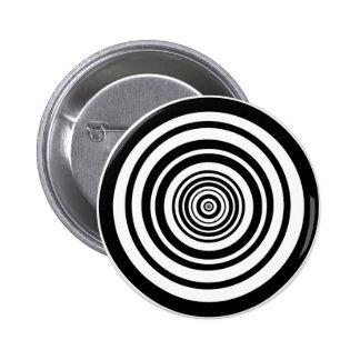 Concentric Circles Graphic Design Pinback Button