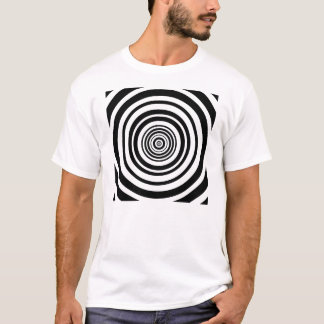 Concentric Circles Graphic Design T-Shirt