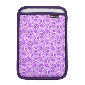 Concentric Circles in Purple iPad Mini Sleeve