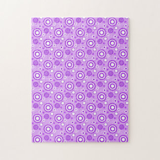 Concentric Circles in Purple Jigsaw Puzzles