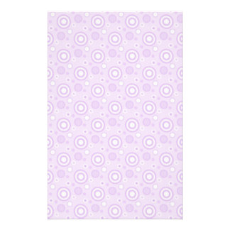 Concentric Circles in Purple Stationery