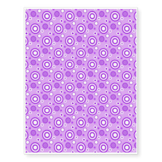 Concentric Circles in Purple Temporary Tattoos