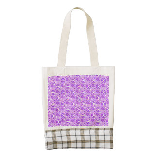 Concentric Circles in Purple Zazzle HEART Tote Bag