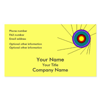 Concentric Circles - lemon - bus card template Business Card Templates