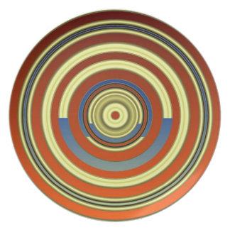Concentric Circles Melamine Plate