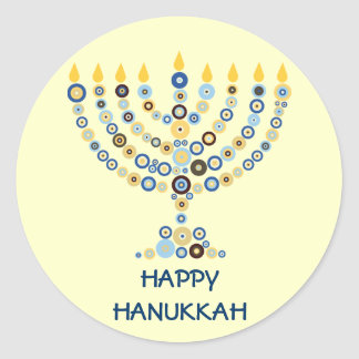 Concentric Circles Menorah Sticker