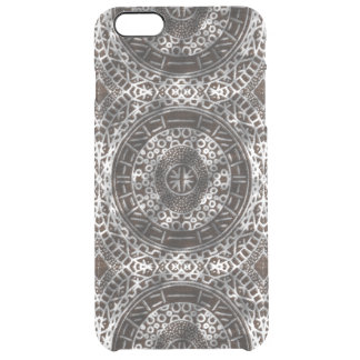 Concentric Circles Modern Tribal African chocolate Clear iPhone 6 Plus Case