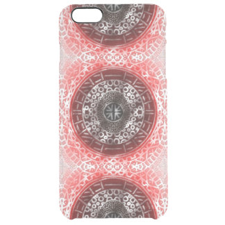 Concentric Circles Modern Tribal African red ombre Clear iPhone 6 Plus Case