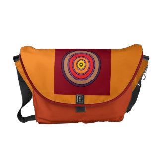Concentric Circles Rickshaw Medium Messenger Bag