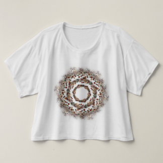 concentric circles t-shirt
