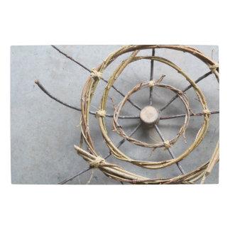 Concentric Circles Wood & Vine Closeup Metal Print
