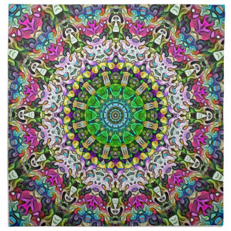 Concentric Colors Abstract Napkin