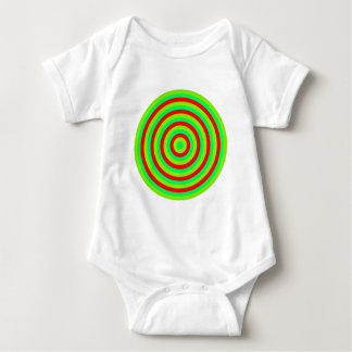 Concentric Colourful Circle of Baby Clothing Baby Bodysuit