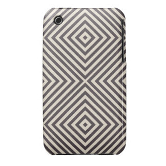 Concentric Diamonds Squares Pattern Crazy Optics iPhone 3 Cases