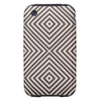 Concentric Diamonds Squares Pattern Crazy Optics Tough iPhone 3 Cover