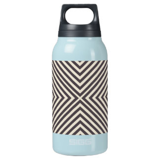 Concentric Diamonds Squares Pattern Crazy Optics Insulated Water Bottle