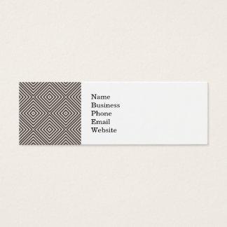 Concentric Diamonds Squares Pattern Crazy Optics Mini Business Card