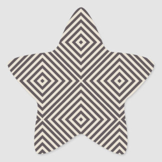 Concentric Diamonds Squares Pattern Crazy Optics Sticker