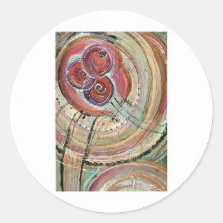 Concentric Dreams Classic Round Sticker