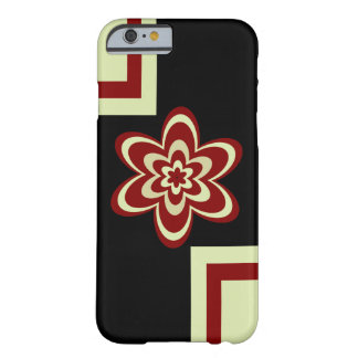 Concentric flowers redish brown barely there iPhone 6 case