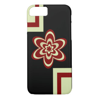 Concentric flowers redish brown iPhone 7 case