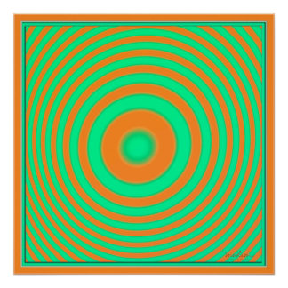 Concentric Green Deep Yellow Poster