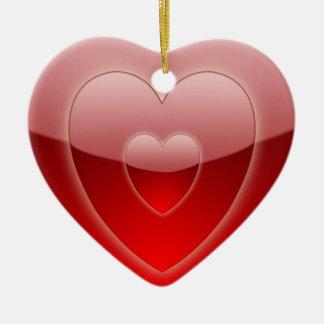 Concentric Hearts Ornament