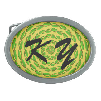 Concentric Leaf Rings by Kenneth Yoncich Belt Buckle