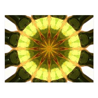 Concentric Lemon Lime Abstract Postcard