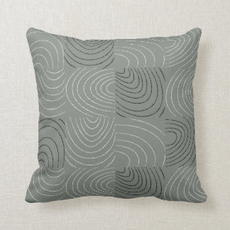 Concentric Ovals Patchwork Pillow