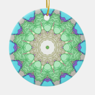 Concentric Pastel Colors Ceramic Ornament