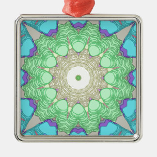 Concentric Pastel Colors Metal Ornament